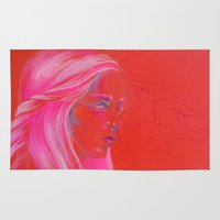mother of dragons Area & Throw Rugs featuring Mother of Dragons by Erin Garey