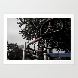 Old School Yard #3 Art Print
