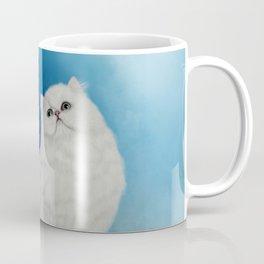 Cute chinchilla cat with butterflies Coffee Mug