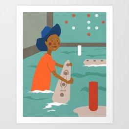 Battleship Cheater Art Print