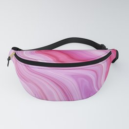 Purple Watercolor Marble Fanny Pack