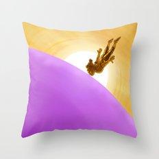 Bubblegum Dawn Throw Pillow