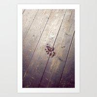 Footstep on Wood Art Print