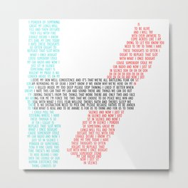 21 Pilots Lyric Quote Metal Print