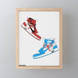 Off White Air x Jordan 1 Poster Framed Mini Art Print