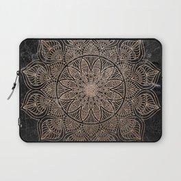 Mandala - rose gold and black marble 4 Laptop Sleeve