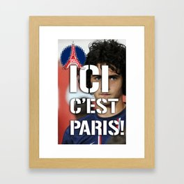 Ici c'est Paris! colors urban fashion culture Jacob's 1968 Paris Agency for Rabiot psg supporters Framed Art Print