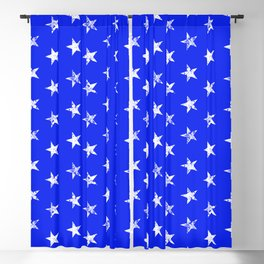 distressed stars on bue Blackout Curtain