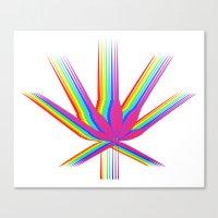"cannabis Canvas Prints featuring Rainbow Cannabis by ""LSC"""
