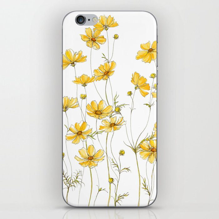 Yellow Cosmos Flowers iPhone Skin