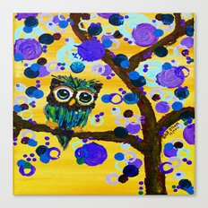 :: Sunshine Gemmy Owl :: Canvas Print