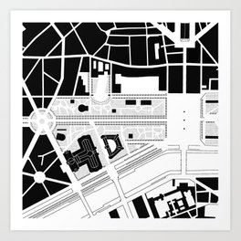 Champs Elysées. Paris Art Print