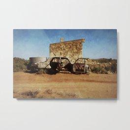 Silverton Hut Metal Print