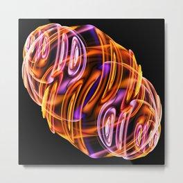 Abstract glow Metal Print