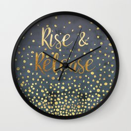 Rise and Release Yoga Meditation Wall Clock