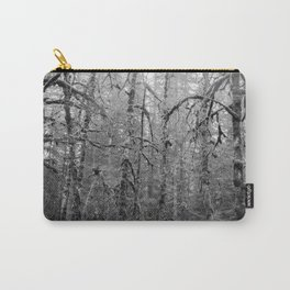 Olympic Rainforest - B&W Carry-All Pouch
