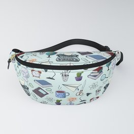Pattern about school and teachers Fanny Pack