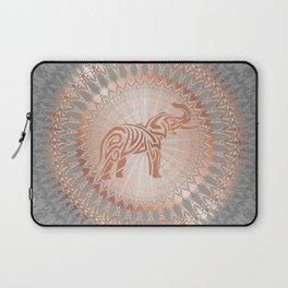 Rose Gold Gray Elephant Mandala Laptop Sleeve