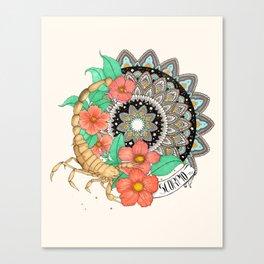 Scorpio Mandala Canvas Print