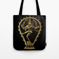shiva Tote Bags featuring Shiva by Aurapim Vorasopan