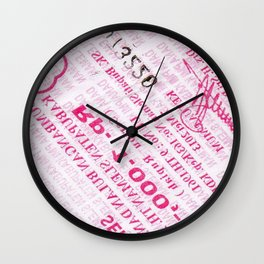 Coupon Print Wall Clock