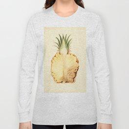 Pineapple Sliced in Half Vintage Illustration Long Sleeve T-shirt