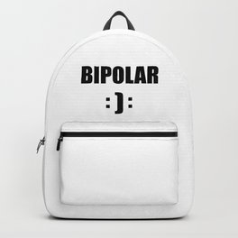 bipolar mental health design quote Backpack