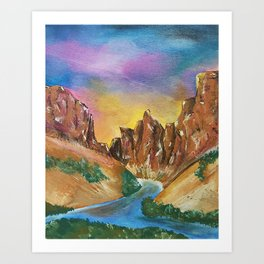 Little Colorado River Confluence in the Grand Canyon Art Print
