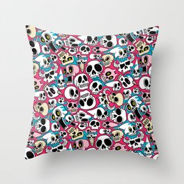Skullz Throw Pillow