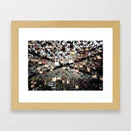 Paris Locks Framed Art Print