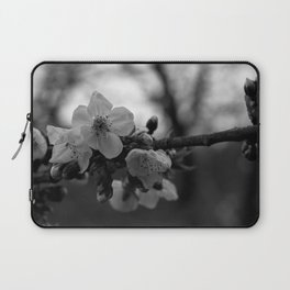 Monochromatic cherry blossoms on branch Laptop Sleeve