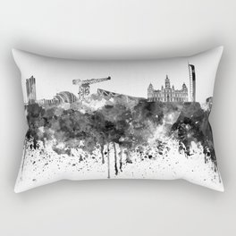 Glasgow skyline in black watercolor Rectangular Pillow