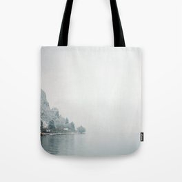 Annecy under the snow - French Alps Tote Bag