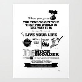 Steve Jobs - When you grow up Art Print