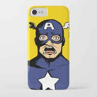 bucky iPhone & iPod Cases featuring bucky!cap by zombietonbo