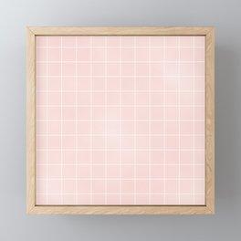 Pink Coral Grid Framed Mini Art Print