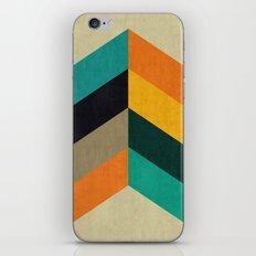 Minimalist and colorful chevron iPhone Skin