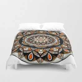 Swadhisthana sacral chakra mandala Duvet Cover
