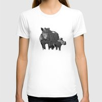 newspaper T-shirts featuring Newspaper Rhinoceros by Doolin