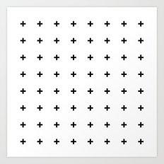 Black Plus on White /// www.pencilmeinstationery.com Art Print