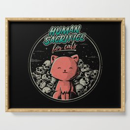 Human Sacrifice - For Cats Serving Tray