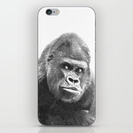 Black and White Gorilla iPhone Skin