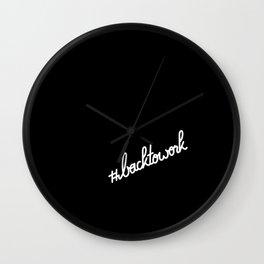 #backtowork   [black & white] Wall Clock