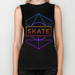 SKATE | Psychedelic Sacred Geometry Biker Tank