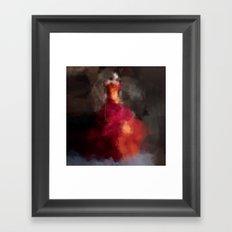 Fire dress Framed Art Print