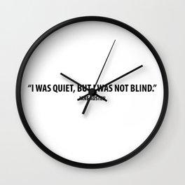 """I was quiet, but I was not blind"" - Jane Austen Wall Clock"