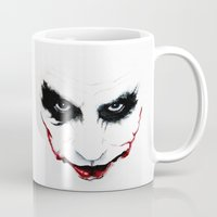 the joker Mugs featuring Joker by DirtyArt