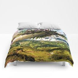 Fleeing Creativity (surreal) Comforters