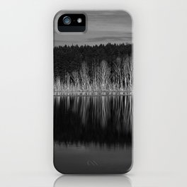 Idyllic summer landscape with crystal clear lake iPhone Case