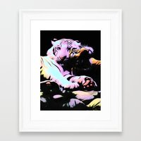 tigers Framed Art Prints featuring tigers by Emmy Winstead